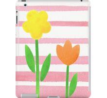 Flowers Garden On Baby Pink iPad Case/Skin