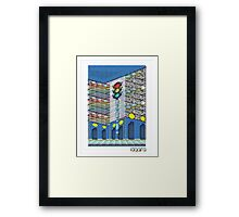 Plaza Grid Framed Print