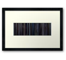 Moviebarcode: Lost in Translation (2003) Framed Print