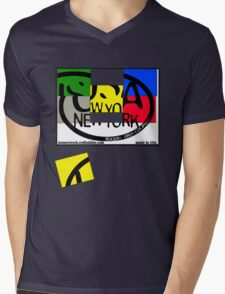 usa new york tshirt by rogers bros co Mens V-Neck T-Shirt