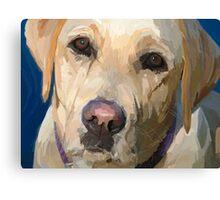 """Yellow Dog"" Canvas Print"