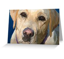 """Yellow Dog"" Greeting Card"