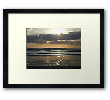 ~` Sunset Reflections at Bethells Beach Framed Print