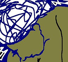 woman with head bowed -(150311)- mouse drawn/ms paint by paulramnora
