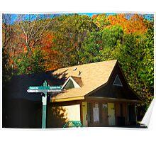 Autumn chalet Poster
