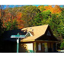 Autumn chalet Photographic Print