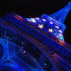 Paris - Blue Old Lady  by Jean-Luc Rollier