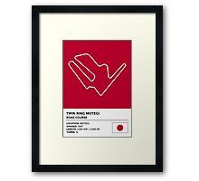Twin Ring Motegi - v2 Framed Print