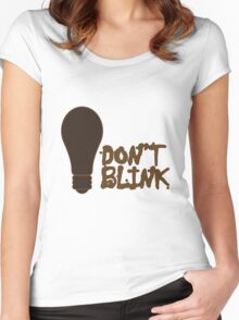 Dont blink dr who inspired geek funny nerd Women's Fitted Scoop T-Shirt