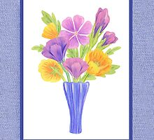 Baby Blue Flower Bouquet  by Irina Sztukowski
