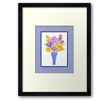 Baby Blue Flower Bouquet  Framed Print