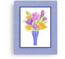 Baby Blue Flower Bouquet  Canvas Print