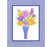 Baby Blue Flower Bouquet  Photographic Print