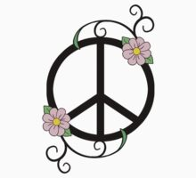 Peace, Daisy, Swirl Illustration by VMDolphin