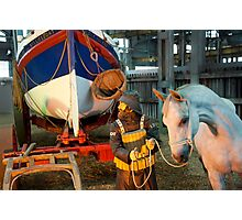 The Lifeboat Man and his Horse #2 Photographic Print