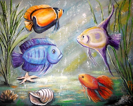 Fish Tank by Pamela Plante