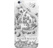 Bourmout map [B&W] iPhone Case/Skin