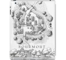 Bourmout map [B&W] iPad Case/Skin