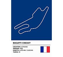 Bugatti Circuit - v2 Photographic Print