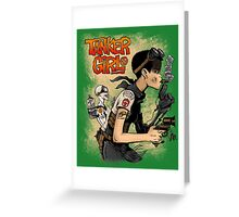 Tanker Girl Greeting Card