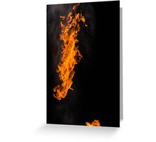 Fire Photography is the BEST! Greeting Card