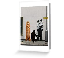 The Scream World Tour Street Art Greeting Card
