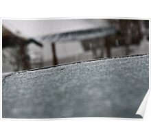 Ice Covered Table Poster