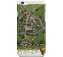 Bourmout map [Color] iPhone Case/Skin