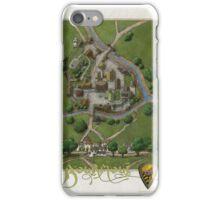 Bourmout map [Color] iPhone Case/Skin