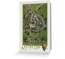 Bourmout map [Color] Greeting Card