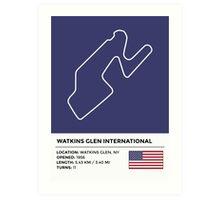 Watkins Glen International - v2 Art Print