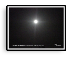 FULL MOON..3/18/2011- WITH A CROSS  Canvas Print