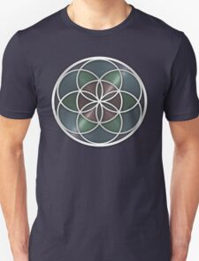 Sacred Geometry: Seed of Life VII - Stained Metal Unisex T-Shirt