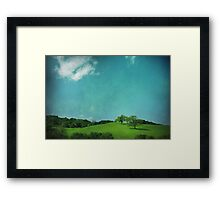 Green Grass, Blue Sky Framed Print