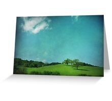 Green Grass, Blue Sky Greeting Card
