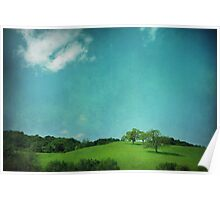 Green Grass, Blue Sky Poster