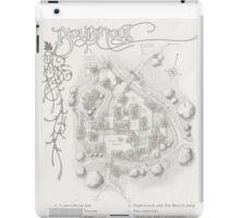Bourmout map [monochrome] iPad Case/Skin