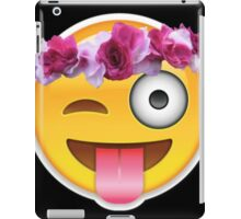 Tongue Face Flower Crown iPad Case/Skin