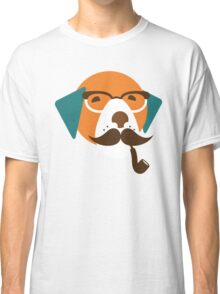 Cute Beagle Dog Hipster Animal With Pipe Classic T-Shirt