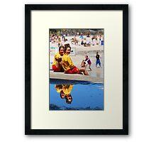 Lifesavers at Cottesloe Beach Framed Print