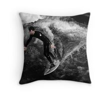 Mono Surfer Throw Pillow