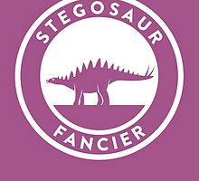 Stegosaur Fancier Print by David Orr