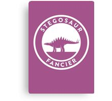 Stegosaur Fancier Print Canvas Print