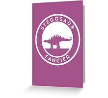 Stegosaur Fancier Print Greeting Card