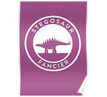 Stegosaur Fancier Print Poster