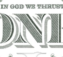 in God we thrust Sticker