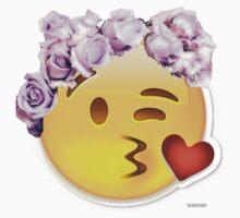 Kiss Emoji Flower Crown by headersway