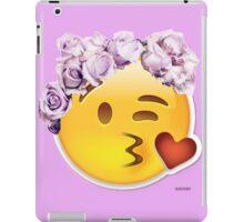 Kiss Emoji Flower Crown iPad Case/Skin