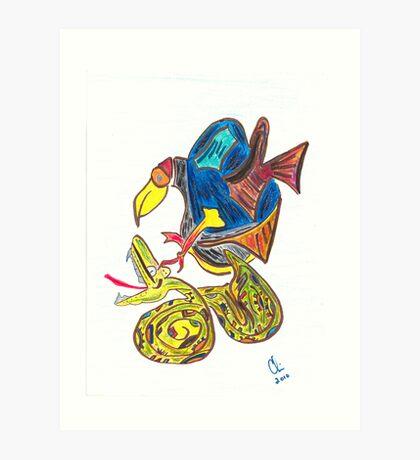 Zaquicaz and Wac Art Print