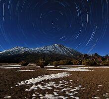 Teide star trail by Raico Rosenberg